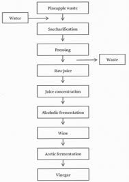 Vinegar Production Flow Chart Metabolite Profiling And Volatiles Of Pineapple Wine And