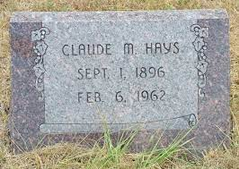 Claude Mervin Hays (1896-1962) - Find A Grave Memorial