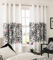 Modren Black And White Curtains Pink Decor On Design