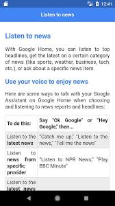 Commands For Google Home Mini для Андроид скачать Apk