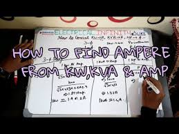 Kilowatt To Amps Chart How To Convert Kw To Amp Kva To Amp Hp To Amp For 3 Phase And Single Phase Ampere Calculation