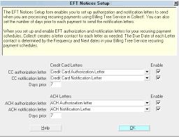 Eft Notices Setup Collect Help
