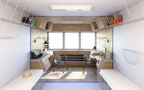 futuristic office design. Futuristic Dormitory Workspace Concept Office Design