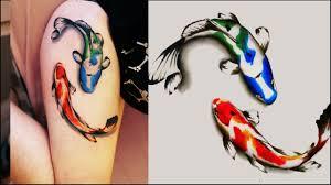 новая татуировка два японских карпа