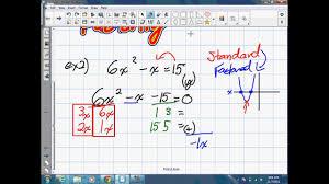 solving quadratic equations by factoring grade 10 academic lesson 6 2 11 7 12