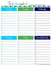 Weekly To Do List Template Word | to do list template