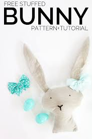 Free Stuffed Animal Patterns Fascinating Free Bunny Pattern See Kate Sew