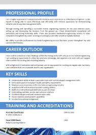 Oil And Gas Cv Example Profesional Resume Template