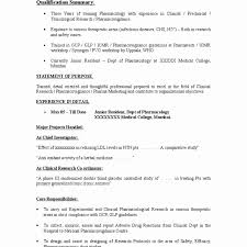 Doctor S Statement For Work Unique Beautiful Mbbs Resume Sample