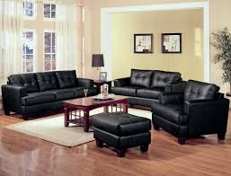 Leather Furniture For Living Room Coaster Samuel 2 Piece Black Bonded Leather Loveseat And Sofa