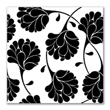 black white negative flora on black and cream wall art uk with floral canvas prints in black and white mono canvas art