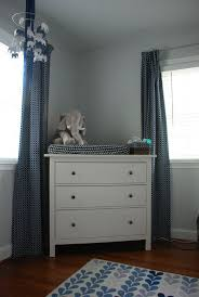 Ideas Ideas Small Corner White Dresser Ikea Set Between Windows With Long  Grey Curtains Covering ...