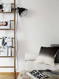 ladder shelves and clamp lamps go hand in hand perfect for the living area or bedroom one of my favourite stylists pella hedeby nails this look