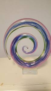 murano abstract free form modern art glass swirl sculpture made in italy 1 of 5free