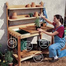 DIY Potting Bench Plans  Rogue EngineerPlans For A Potting Bench