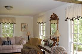 living room curtains with valance. White Classic Valance Curtains For Living Room With O