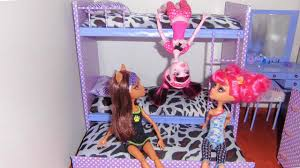 Monster High Bedroom Decorations How To Make A Bunk Bed For Doll Monster High Barbie Etc Youtube