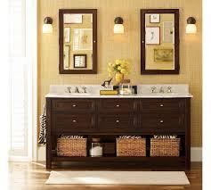 bathroom classic design. Bathroom Design Ideas, Double Mirror Classic Framed Glass Contemporary White Cabinet Flowers Yellow I