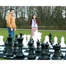 jumbo chess set oversized outdoor pieces for outdoors wood