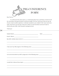 parent conference template parent teacher pre conference form template template haven