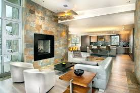 white stone fireplace natural stacked veneer example decor