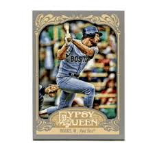 2012 Topps Gypsy Queen Wade Boggs Short Print Variation Baseball Card