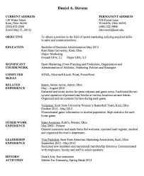 Sport Marketing Resume Sample Resumesdesign Com Sport