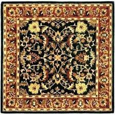 square area rugs 6x6 square rugs heritage black red 6 ft x 6 ft square area