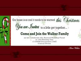 christmas holiday party and dinner invitation card design ideas to family christmas dinner invitation wording and template nice white background and green font color