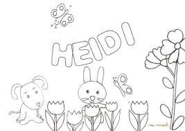 Nome Heidi Da Colorare