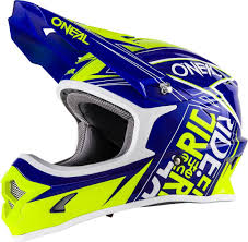 Oneal Protectors O Neal 3series Fuel Motocross Helmets Blue