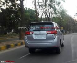 Toyota Innova Crysta spied in the wild for the first time