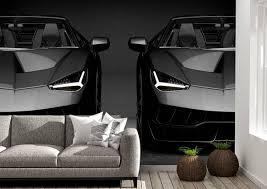 Black Lamborghini Front Theme Wall ...