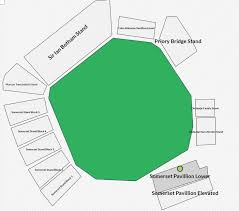 County Ground Taunton World Cup 2019 Tickets Booking Seat Map