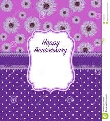 Wedding Anniversary Greeting Card Designs Happy Anniversary Greeting Card In Purple Colour Stock
