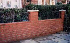 Small Picture Front Garden Brick Wall Designs Decoration Adorable Front Gardens