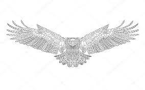 Zentangle Stylizované Orel Skica Pro Barevné Stránky Tetování Nebo