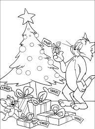Tom Jerry E I Regali Di Natale Disegni Da Colorare Cartoni Animati