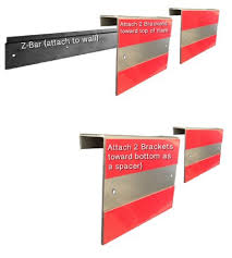 get quotations 24 universal z bar picture hanging hardware heavy duty metal mounting bracket to on hang heavy wall art with cheap hanging heavy art find hanging heavy art deals on line at