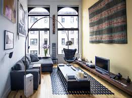 greenwich village loft living room modern-living-room