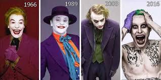 joker costume evolution