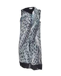 Helmut Lang Print Drape Dress