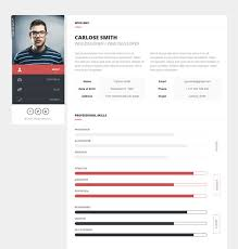Resume Website Template Custom 28 Best HTML Resume CV VCard Templates Free Premium FreshDesignweb