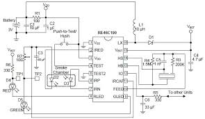 smoke detector wiring schematic smoke detector circuit re46c190 smoke detector photoelectric circuit