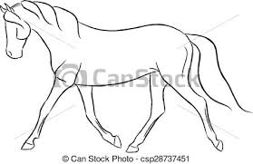 trotting horse drawing. Delighful Trotting Trotting Horse  Csp28737451 For Drawing
