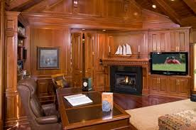 office paneling. Wood-Paneled Rooms Office | This Home Is Almost Entirely Wrapped In Wood So Paneling L