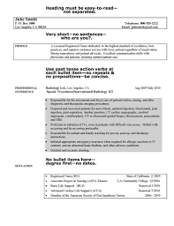 Minimalist Writing Nursing Resume Professional Graduate Nurse Help