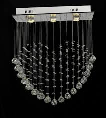 modern square single heart shape crystal chandelier led pendant light 8006 3
