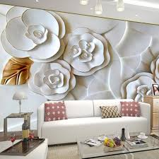 Wall Mural For Living Room Family Room Modern Magnolia 3d Floral Wall Decor For Impressive