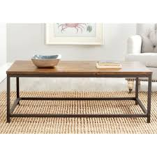 safavieh alec brown coffee table